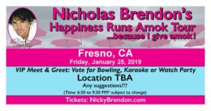 Nicholas Brendon Happiness Runs Amok Tour - Fresno