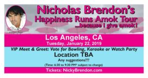 Nicholas Brendon Happiness Runs Amok - LA