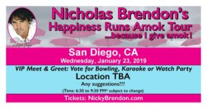 Nicholas Brendon Happiness Runs Amok - San Diego